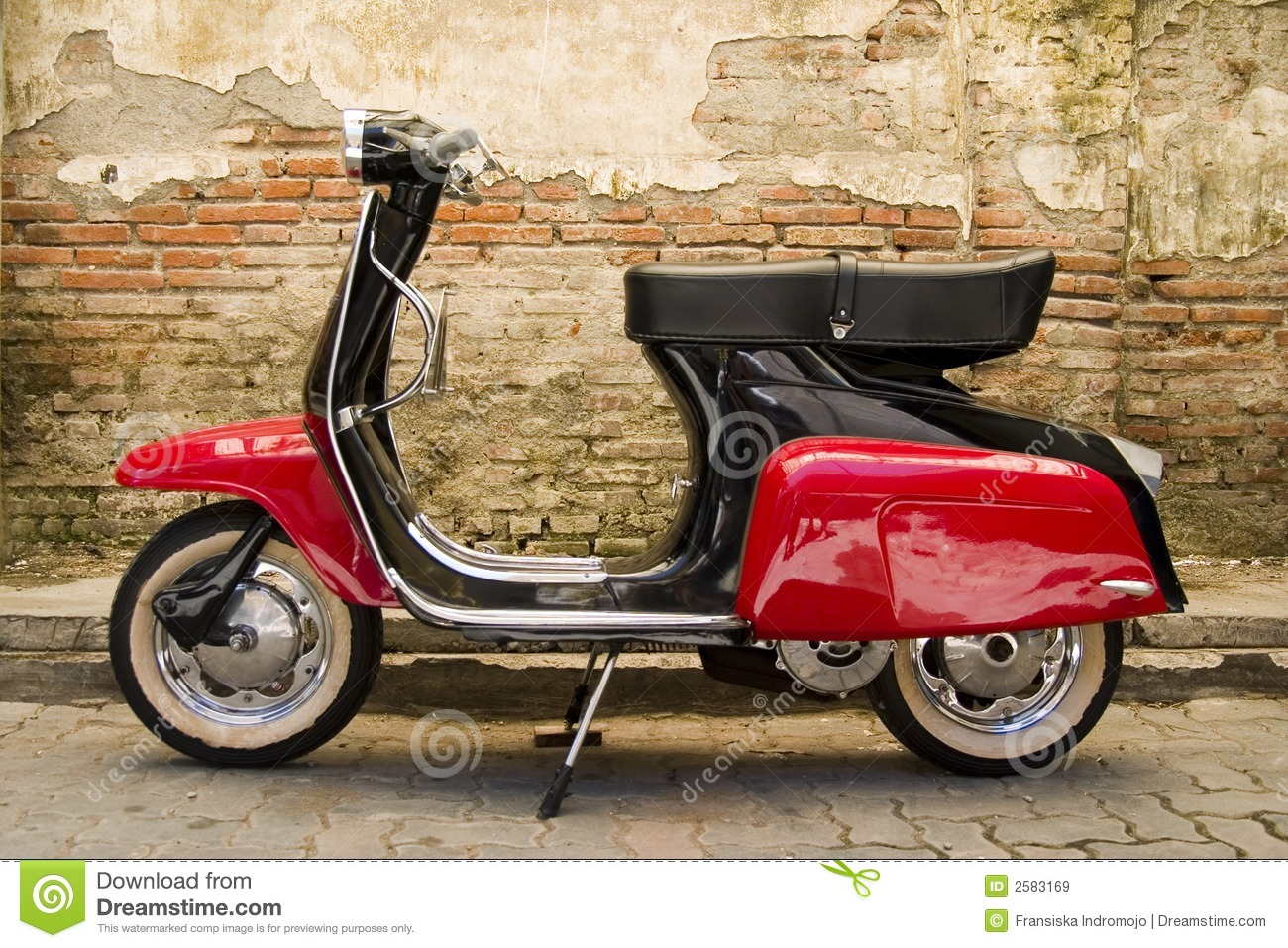 Red black scooter