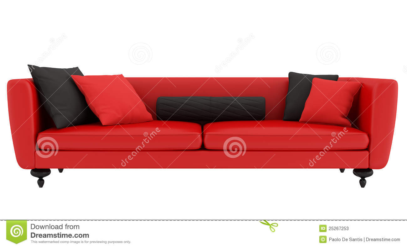 Red And Black Sofa Stock s Image