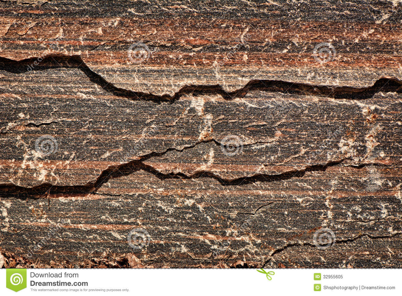 Red And Black Granite : Red black tiger striped granite stock image