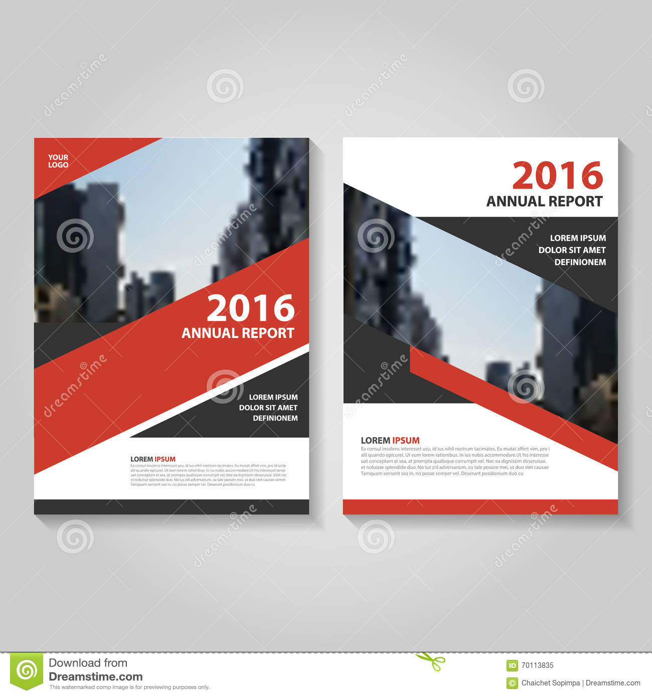 Red Book Cover Design : Red and black vector brochure flyer cover template