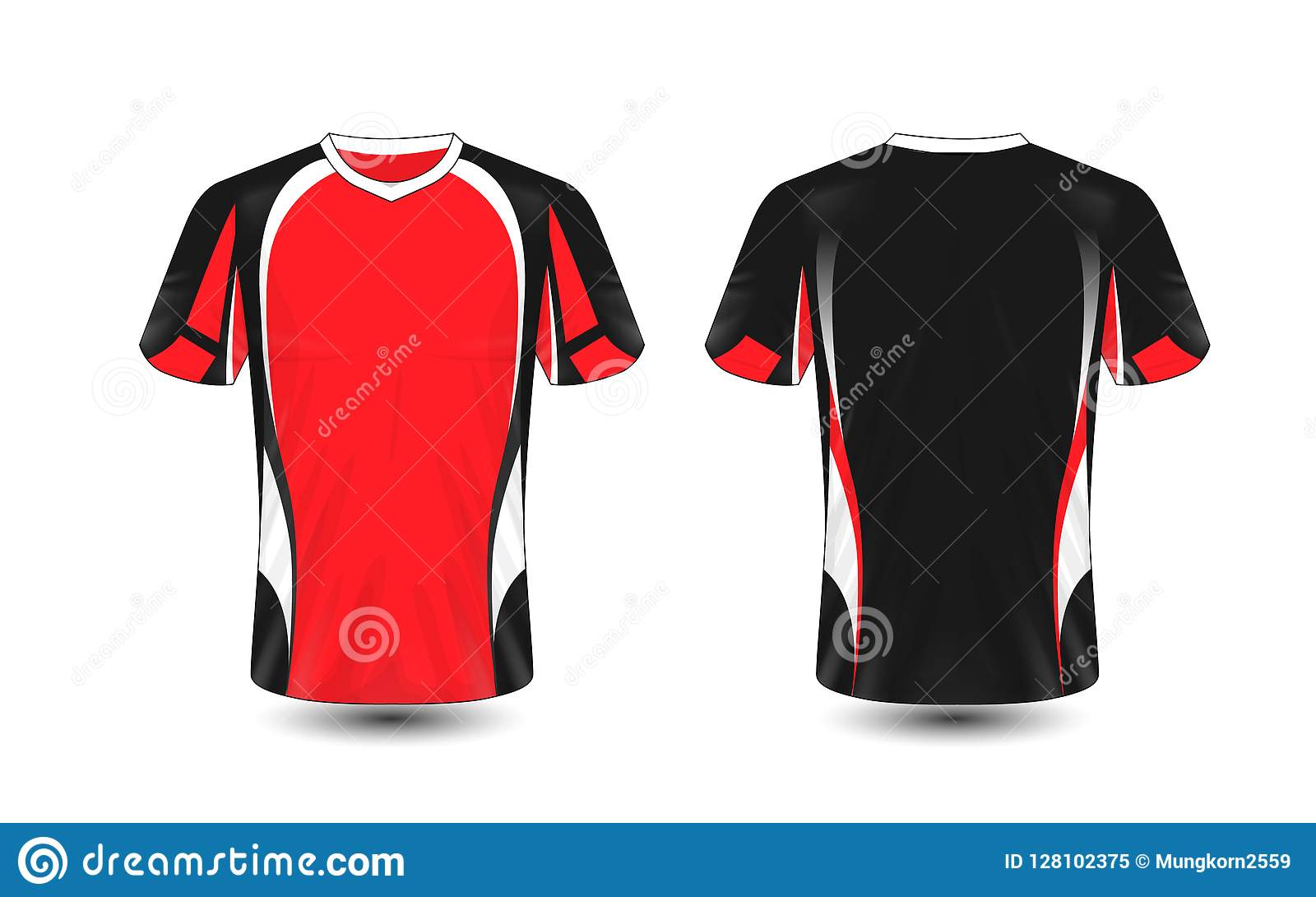 1e7cfc83f Red black and white layout e-sport t-shirt design template. Illustration  vector