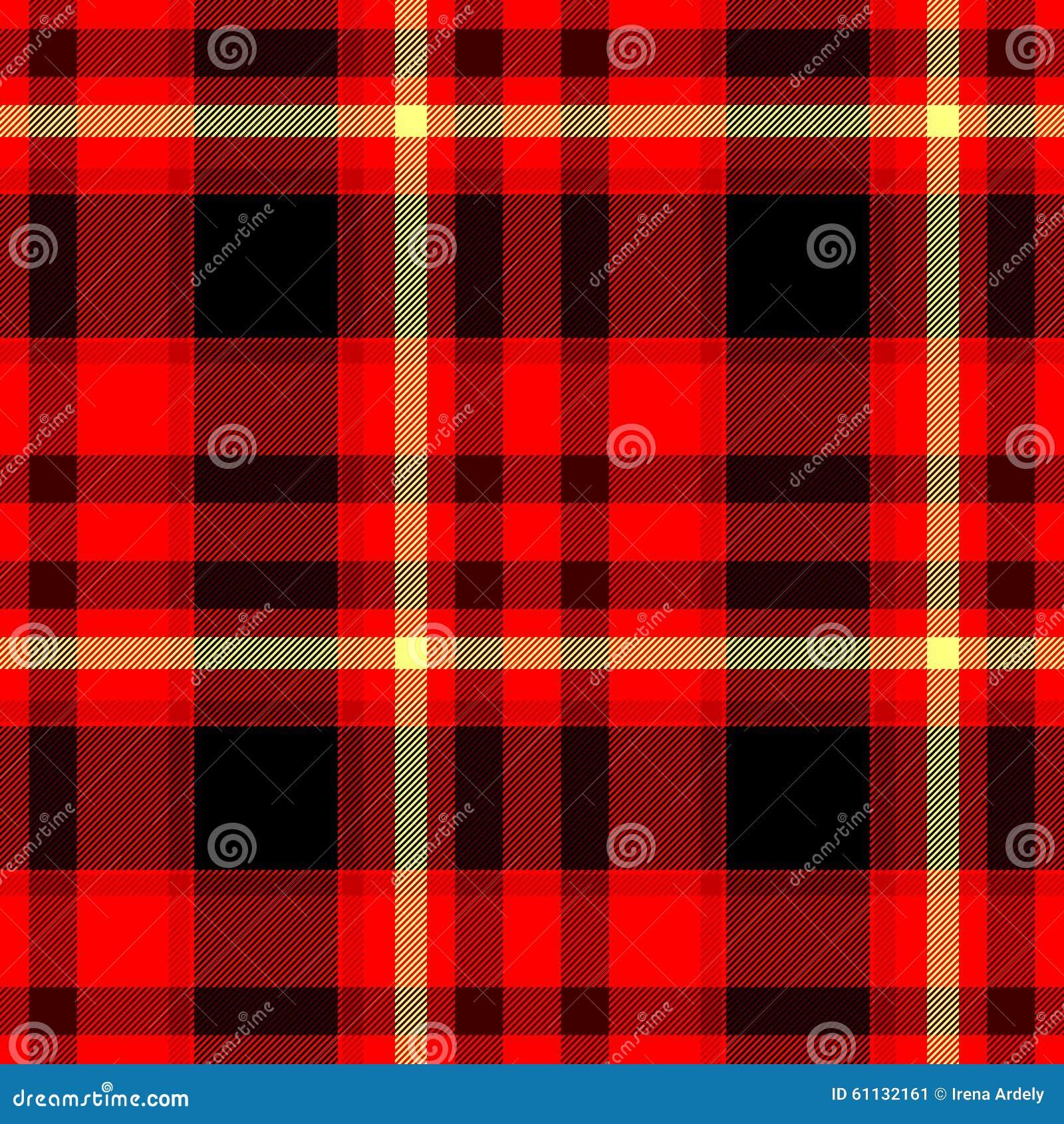 Red Black Yellow Checkered Diamond Tartan Plaid Seamless
