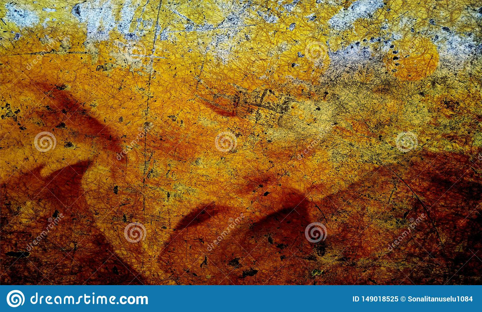 Red, black and yellow shaded wall textured background. paper grunge background texture. background wallpaper.