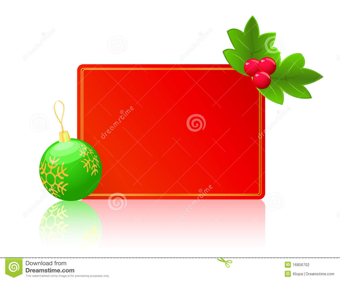 red blank card christmas new year concept