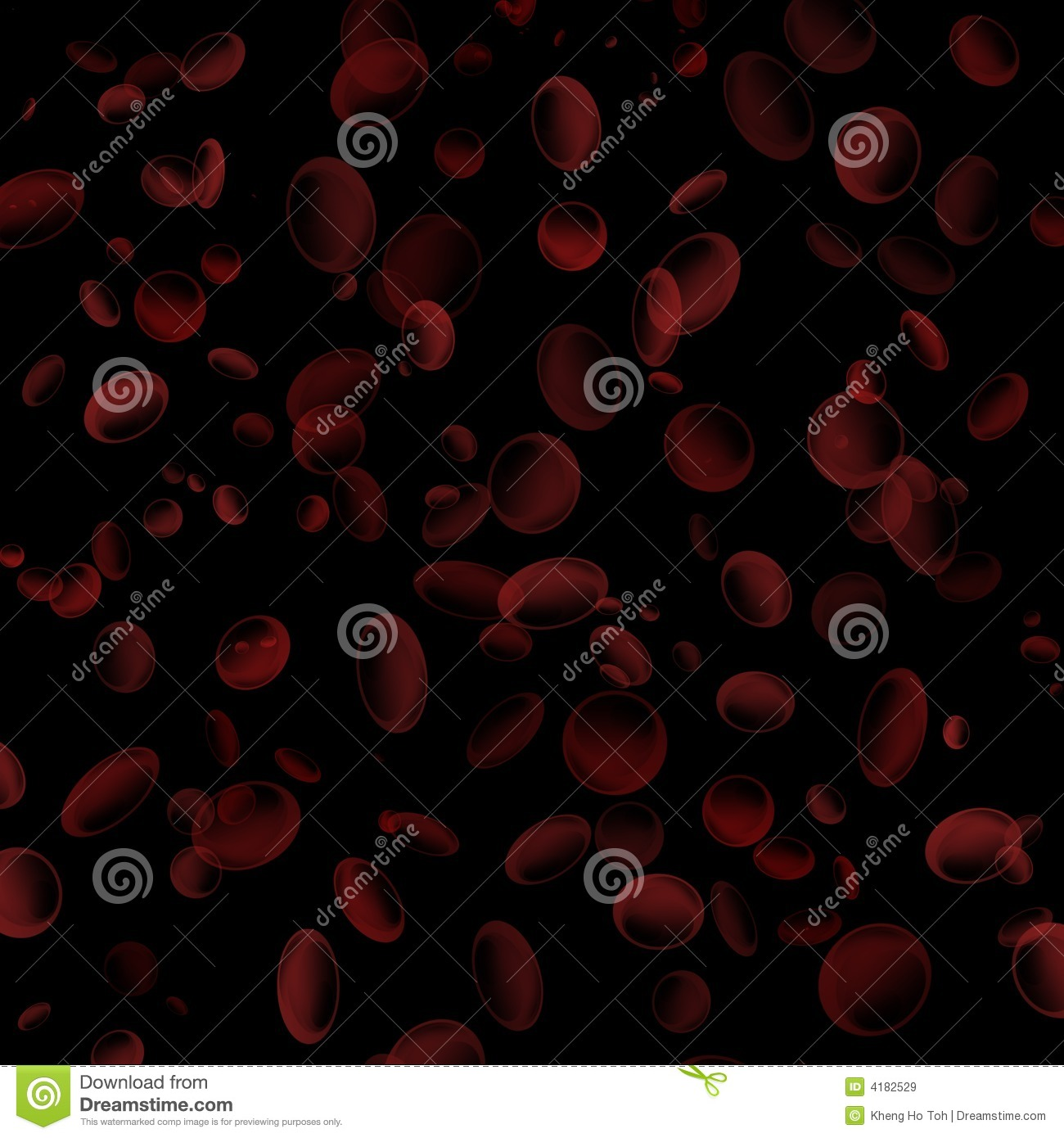 Red Blood Cells Floating In A Black Background Royalty Free Stock ...