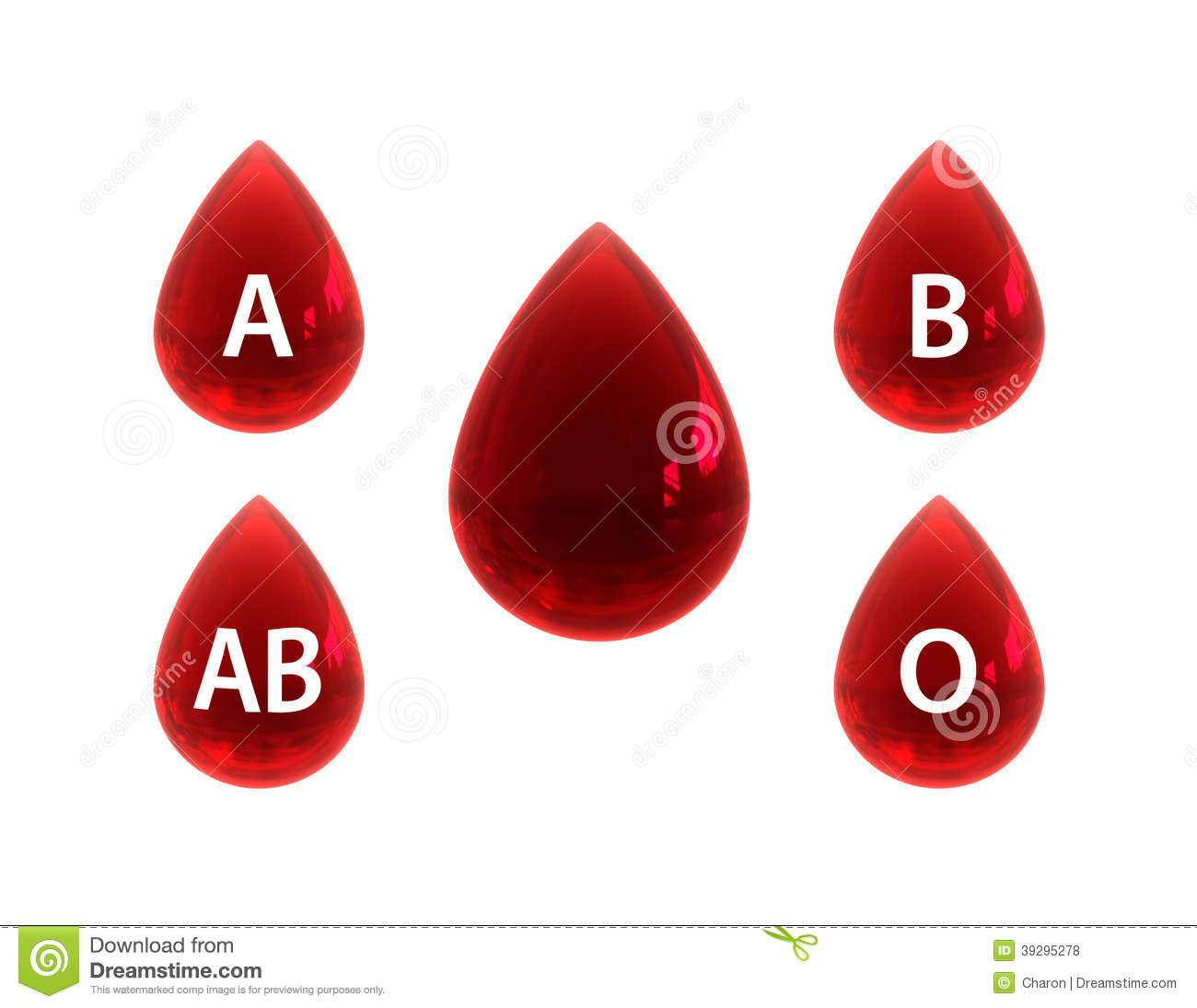 Red Blood Drop Symbol A B Ab O Type Sign Stock Illustration
