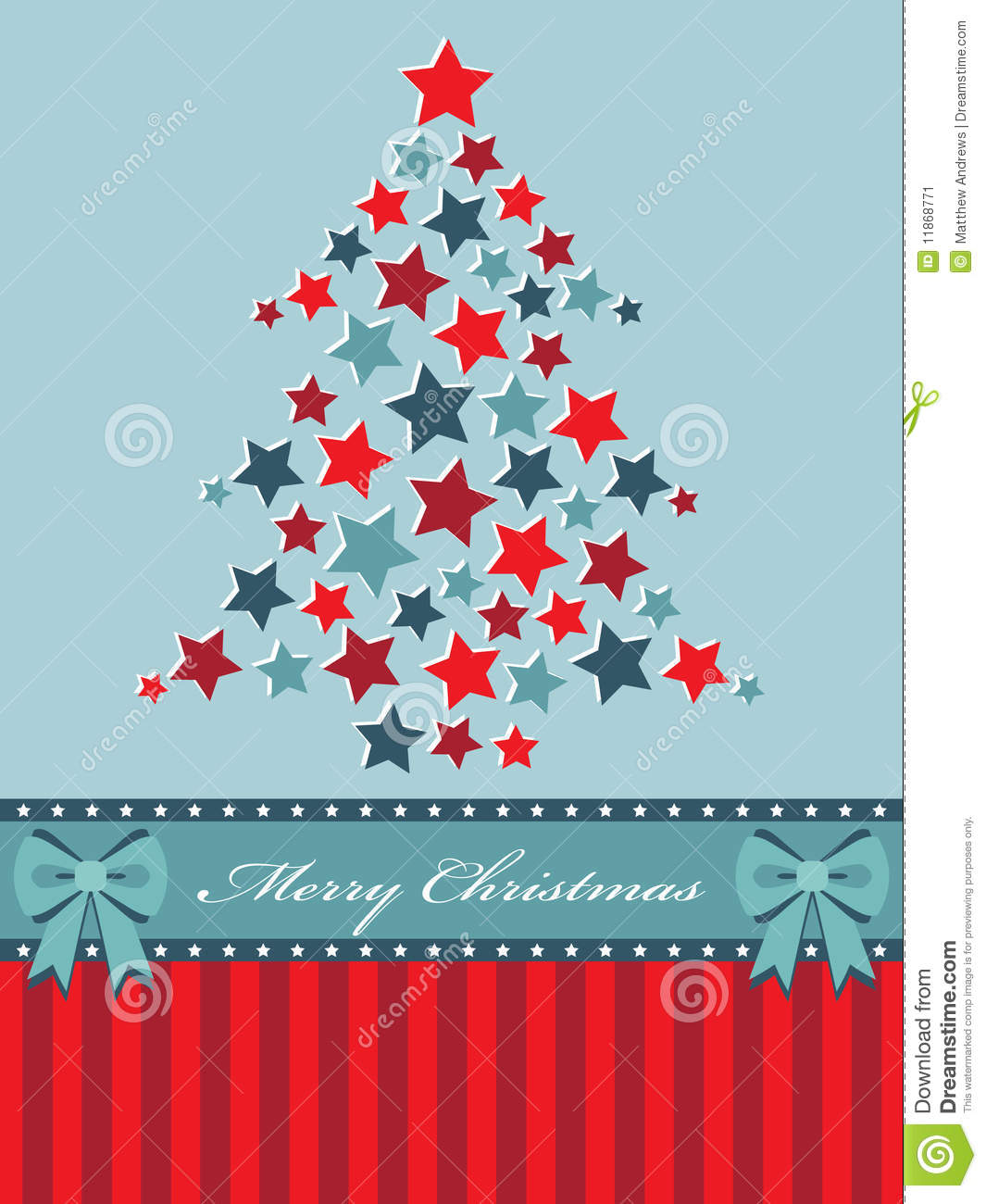 Red And Blue Christmas Tree Stock Image Image 11868771