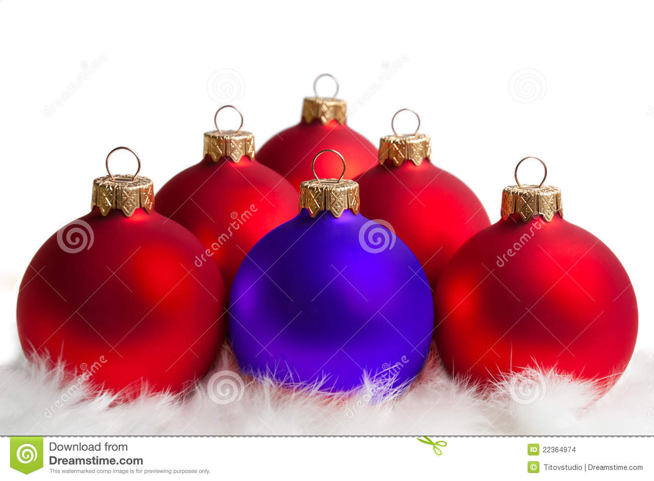 Red And Blue Christmas Tree Balls Stock Images Image