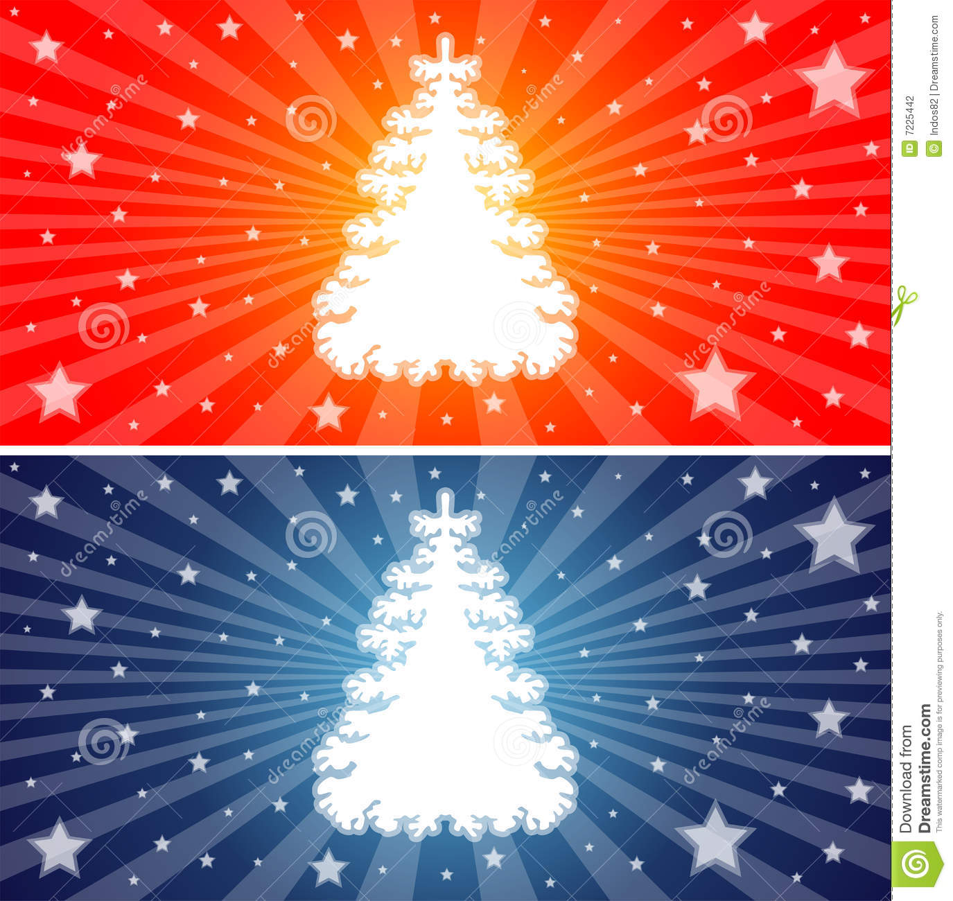 Red And Blue Christmas Trees Stock Photography Image