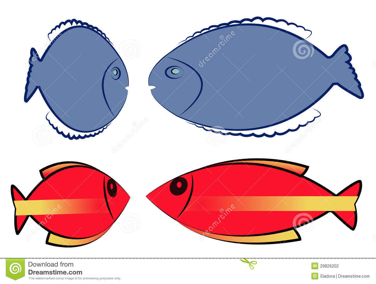 Colorful Blue Color Fish Motif - Drawing Coloring - androidharga.info