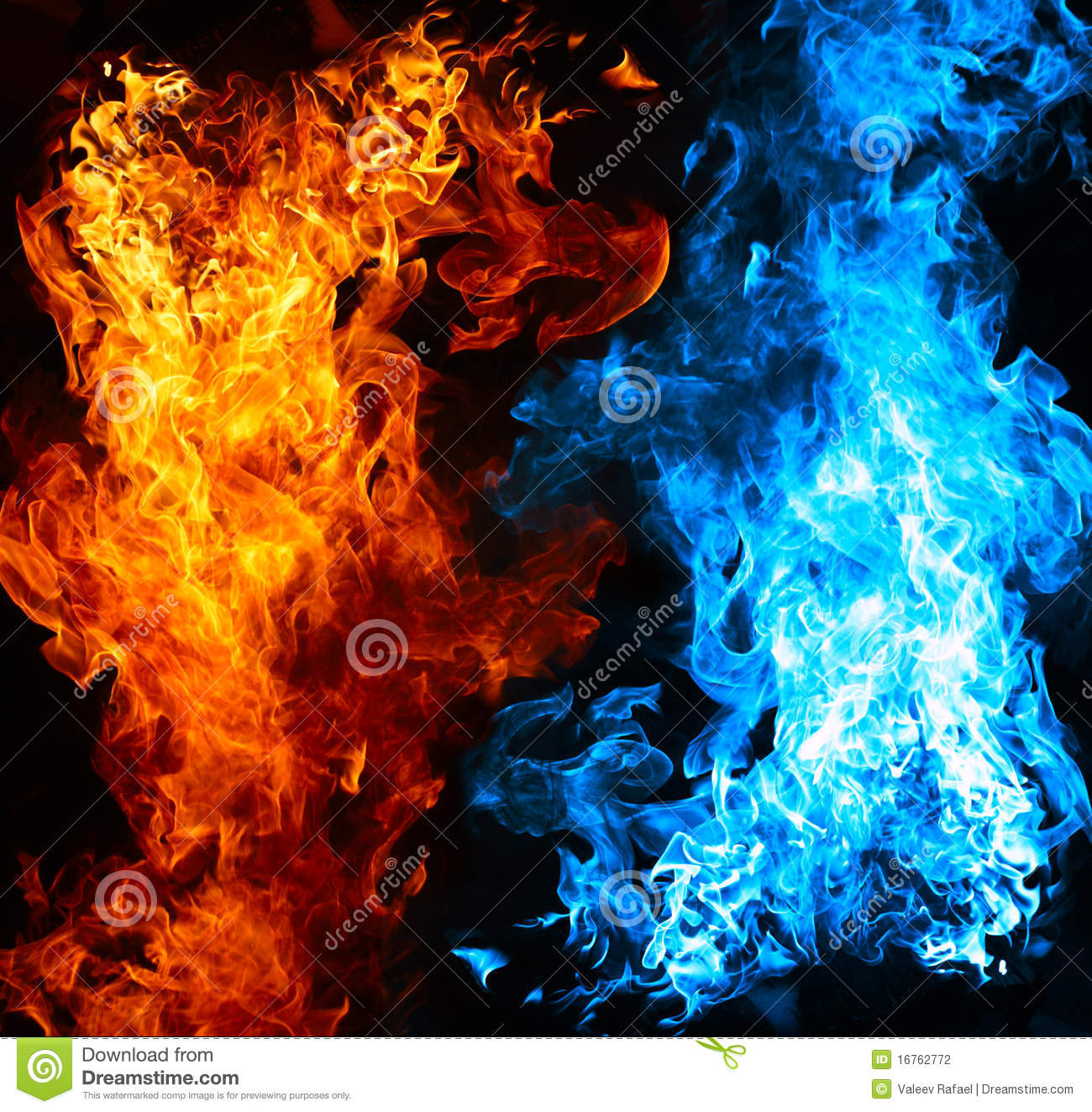 red and blue fire stock photo image of cold color abstract 16762772. Black Bedroom Furniture Sets. Home Design Ideas