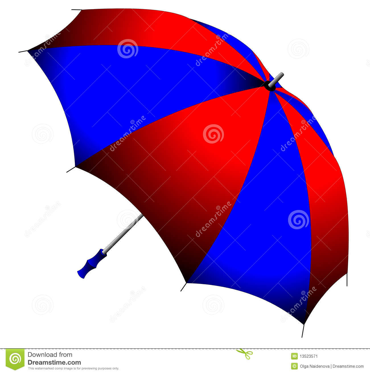 red and blue folding umbrella stock illustration image 13523571. Black Bedroom Furniture Sets. Home Design Ideas