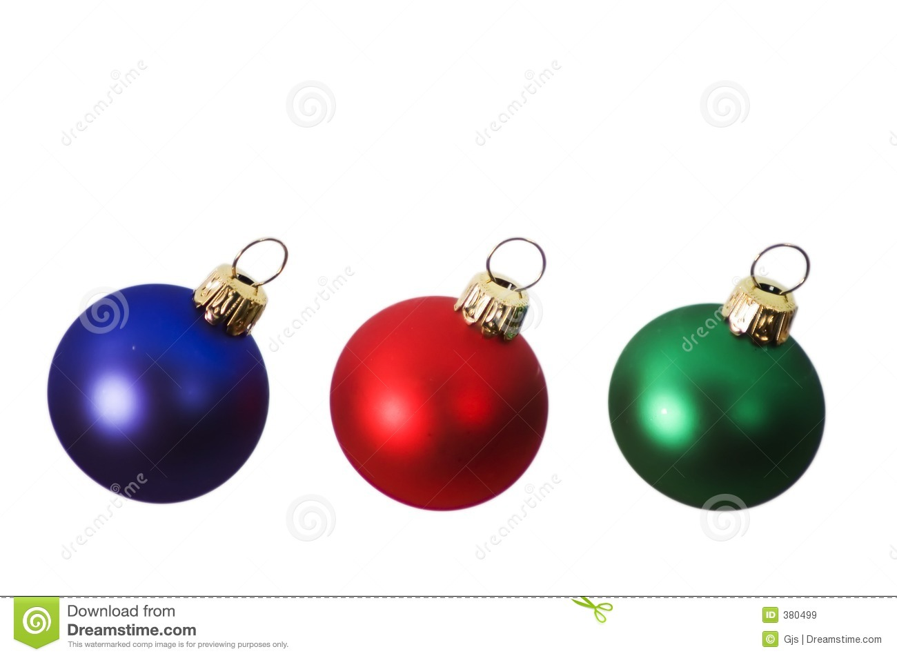 Christmas Bulbs.Red Blue And Green Christmas Bulbs Stock Image Image Of