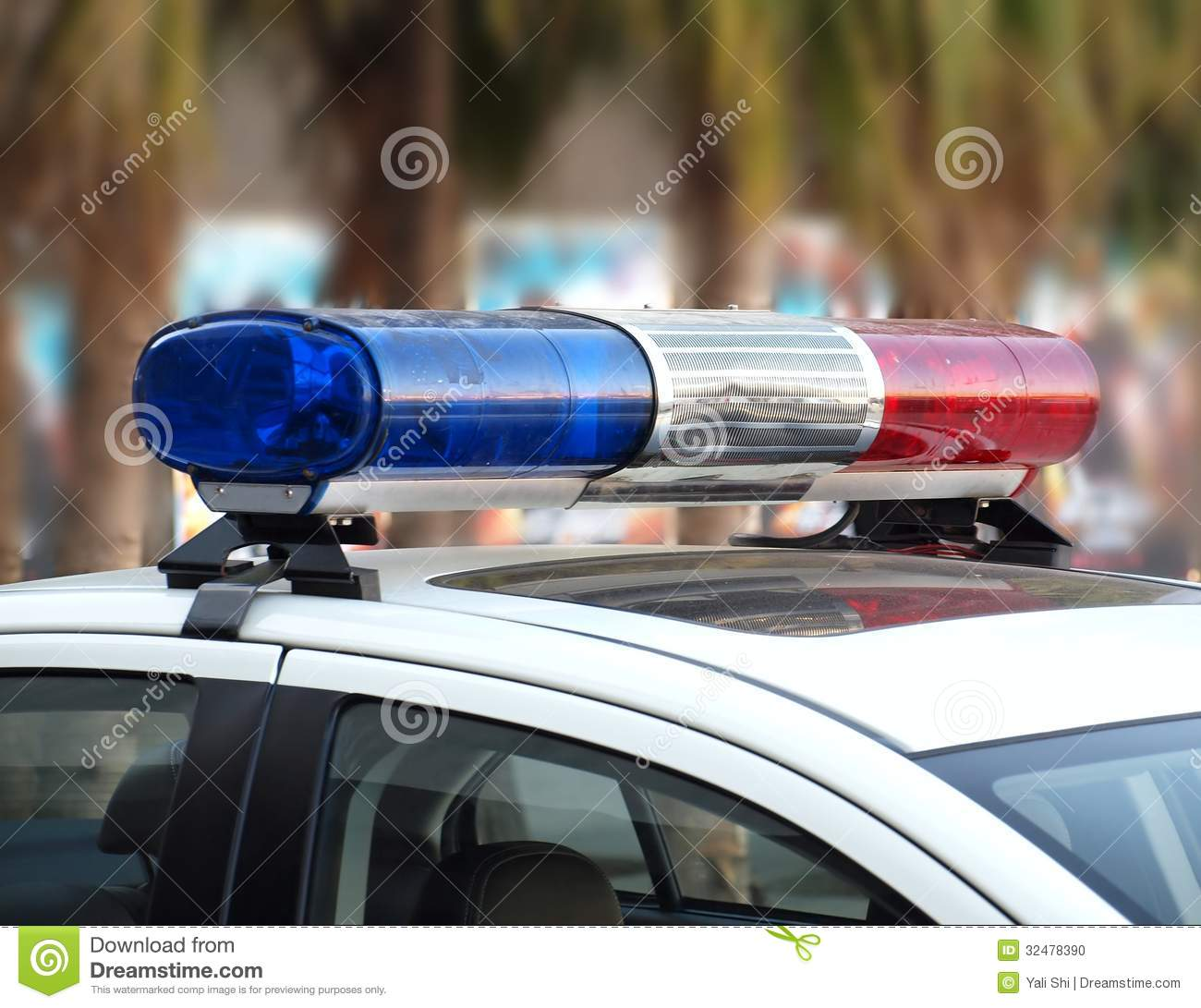 Red and blue lightbar of a police car stock photo image 32478390 royalty free stock photo mozeypictures Image collections