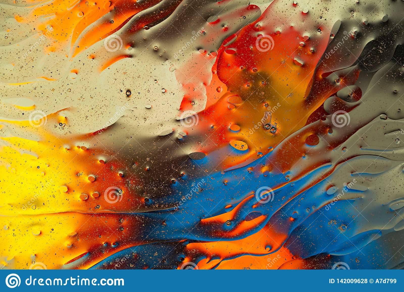 Red, blue, orange,black, yellow colorful abstract design, texture. Beautiful backgrounds.