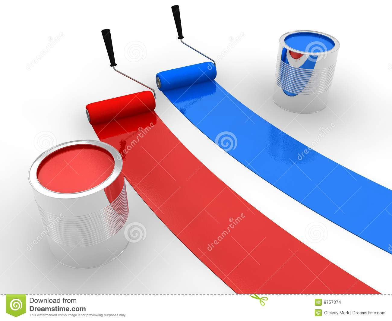 red and blue paint stock illustration image of concept 8757374. Black Bedroom Furniture Sets. Home Design Ideas