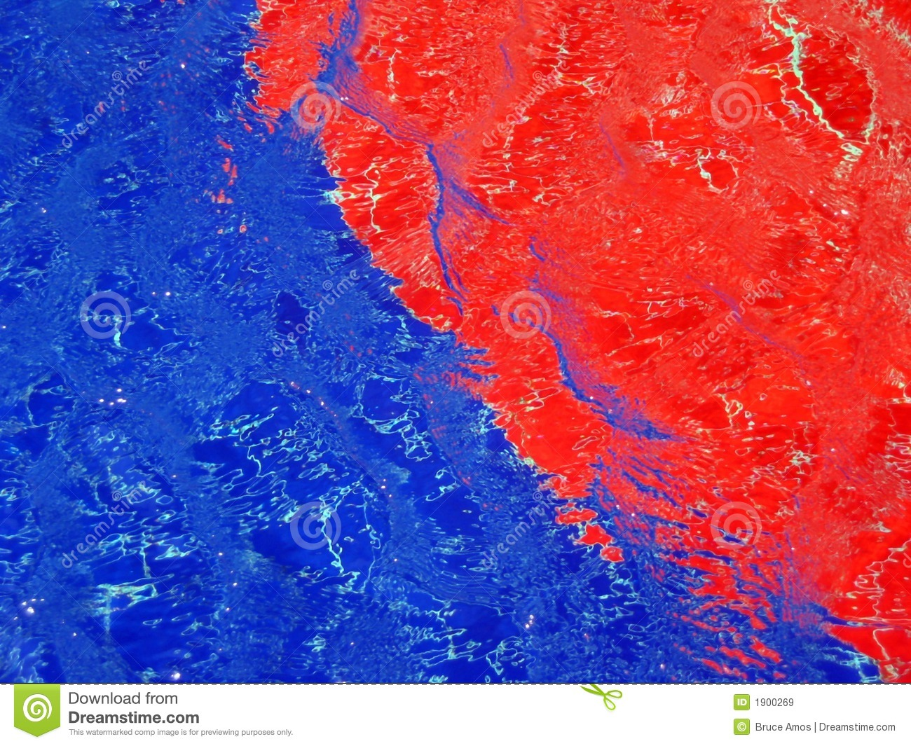 Red And Blue Patterns In A Pool Stock Image Image 1900269