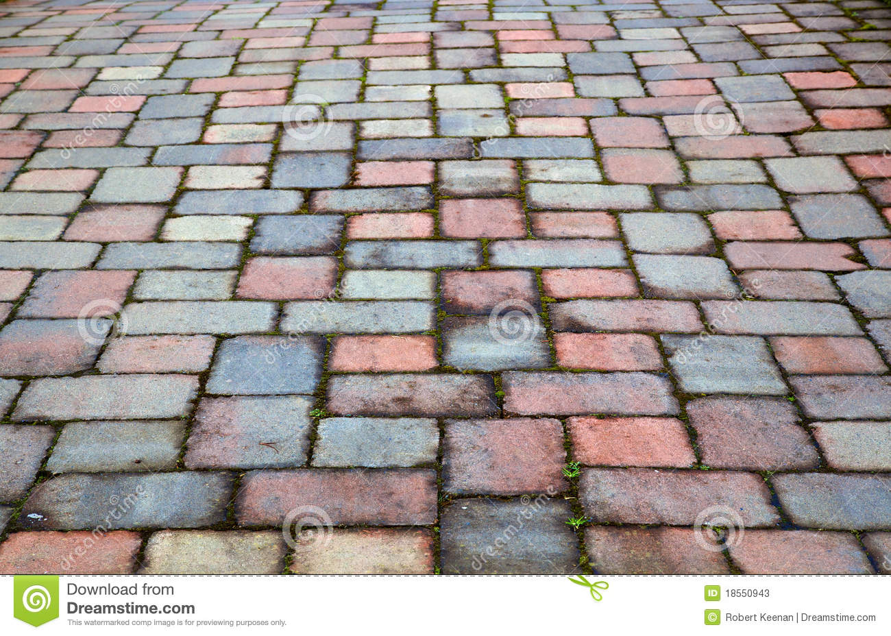 Red And Blue Paver Patio Stock Photos Image 18550943