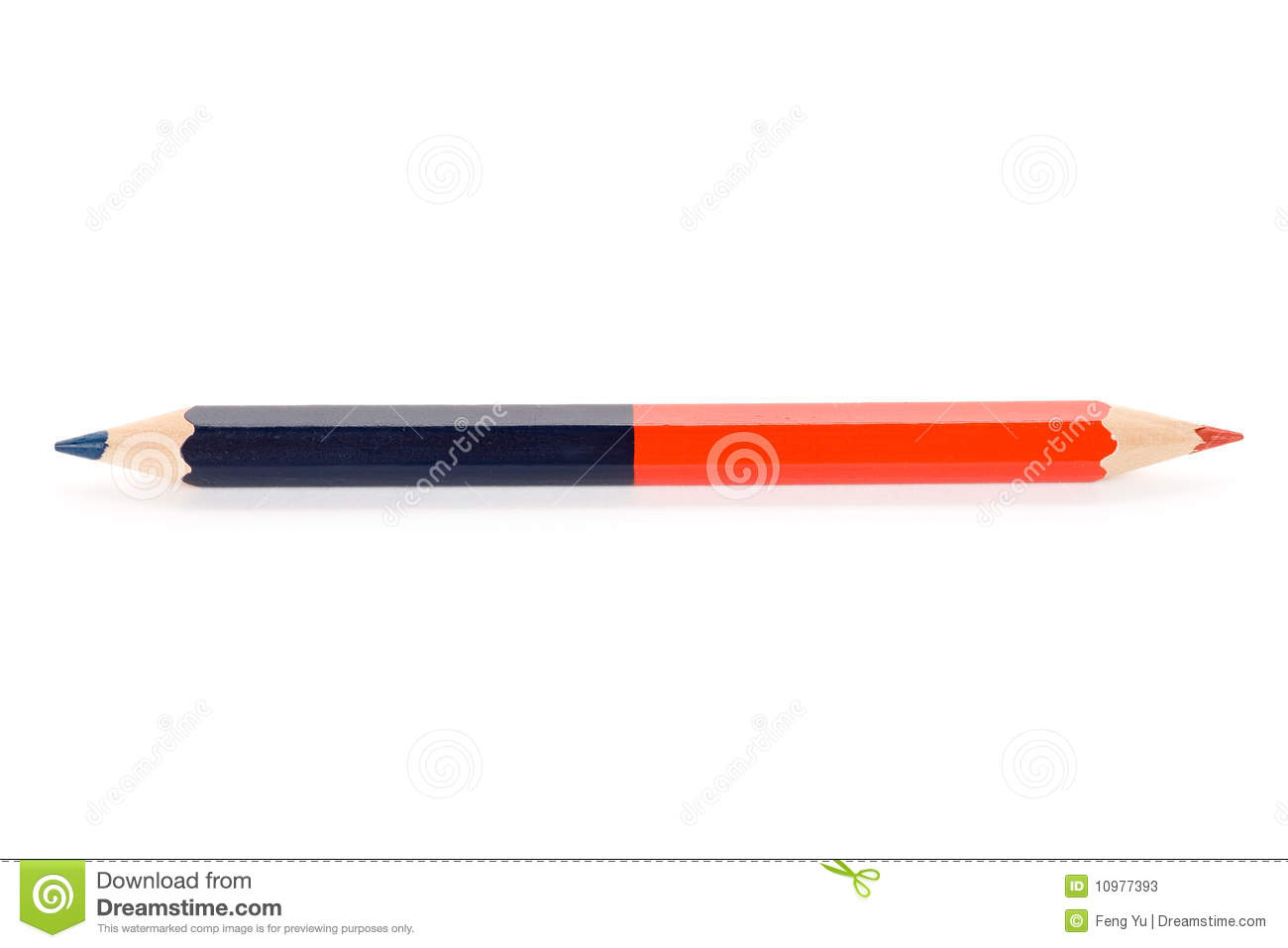 Red Blue Pencil Stock Photos - Image: 10977393