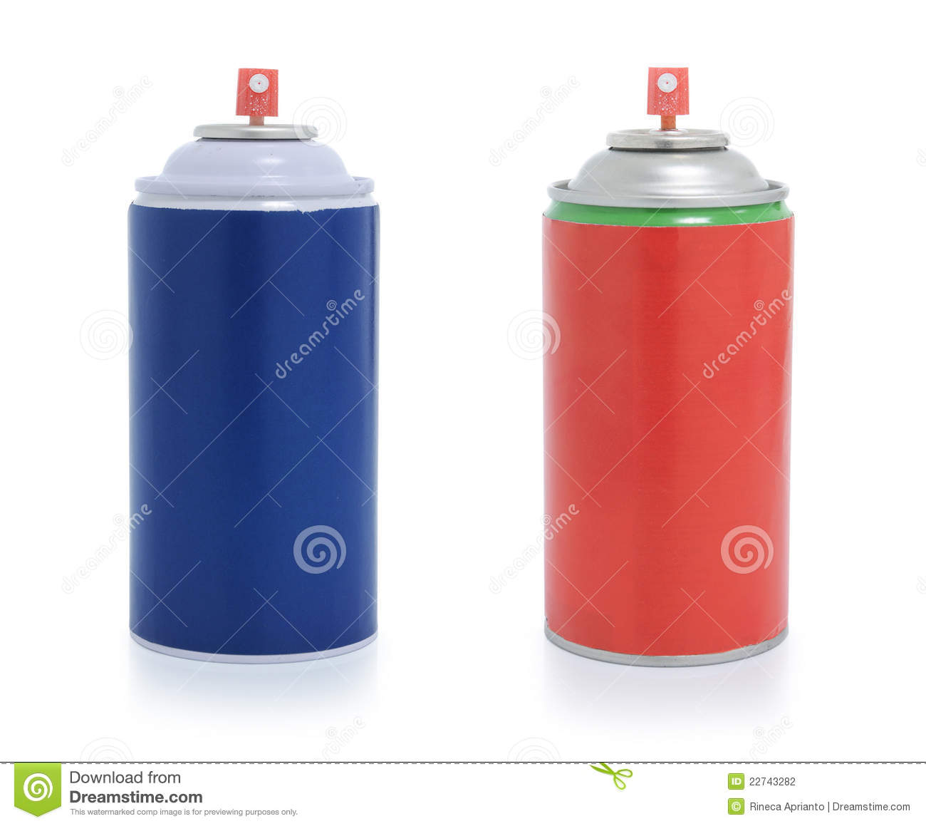 Red and blue spray paint stock photography image 22743282 Paint with spray can