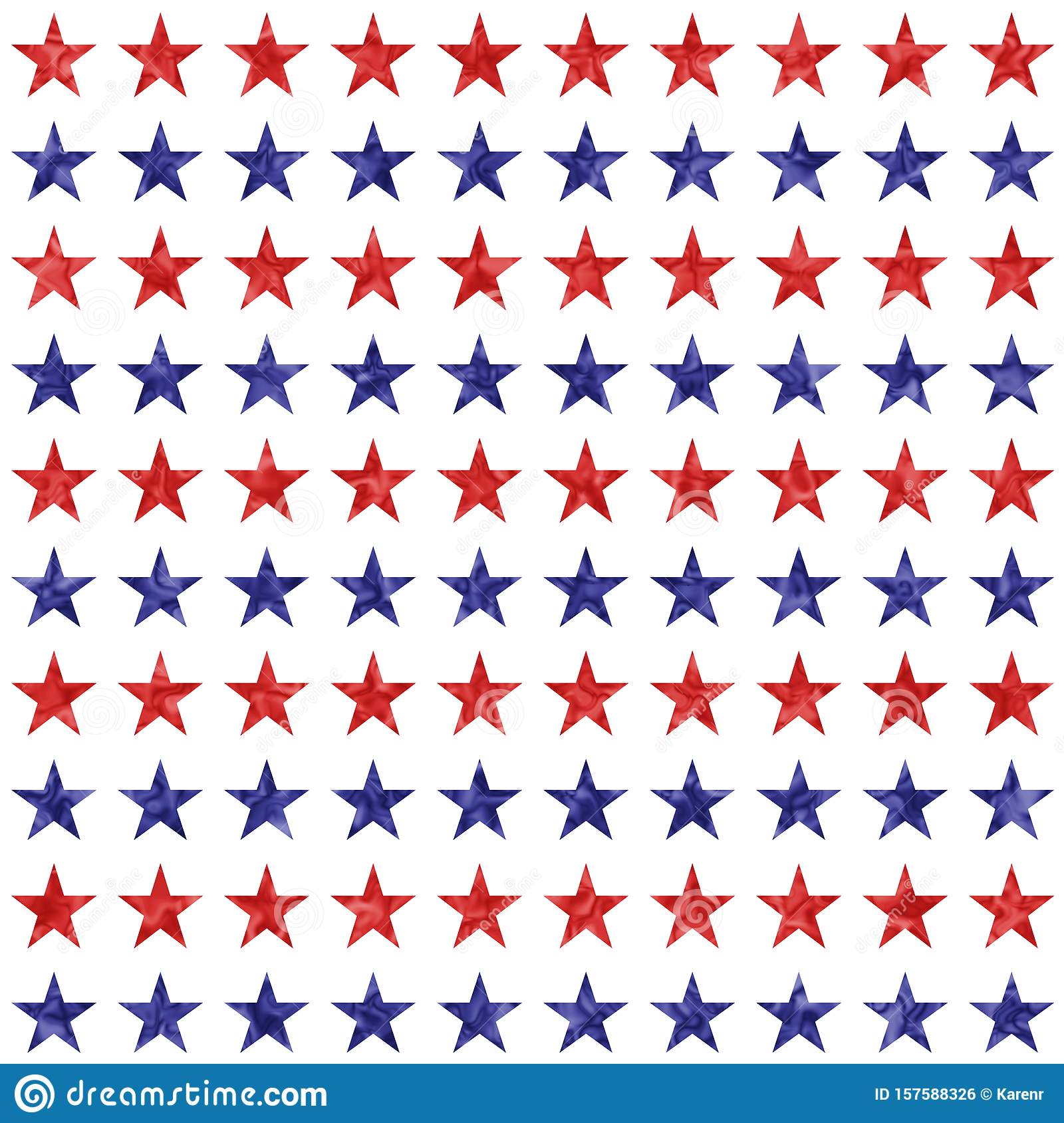 Red and blue star seamless textured pattern background