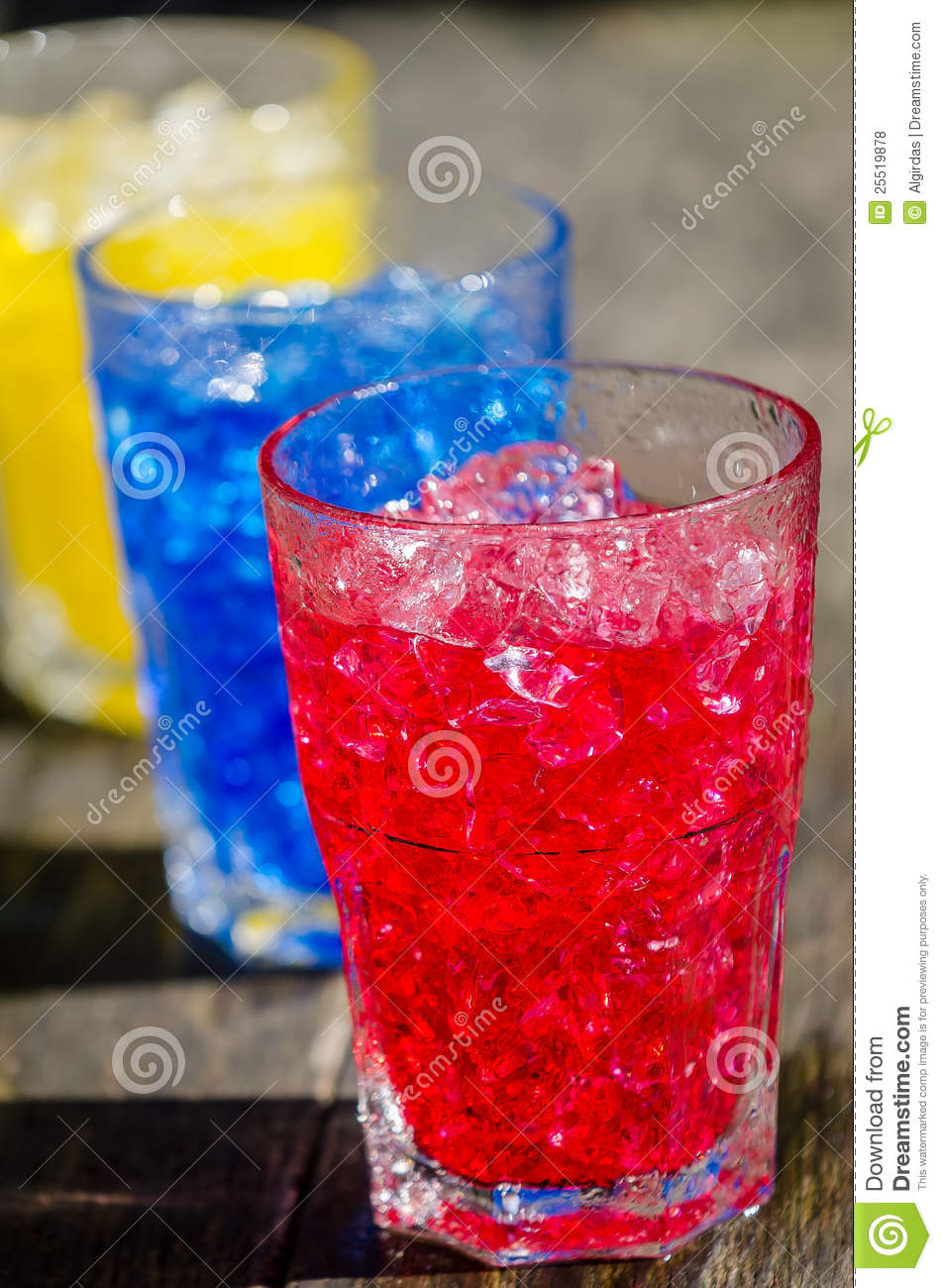 red blue and yellow cocktails stock photo image 25519878. Black Bedroom Furniture Sets. Home Design Ideas