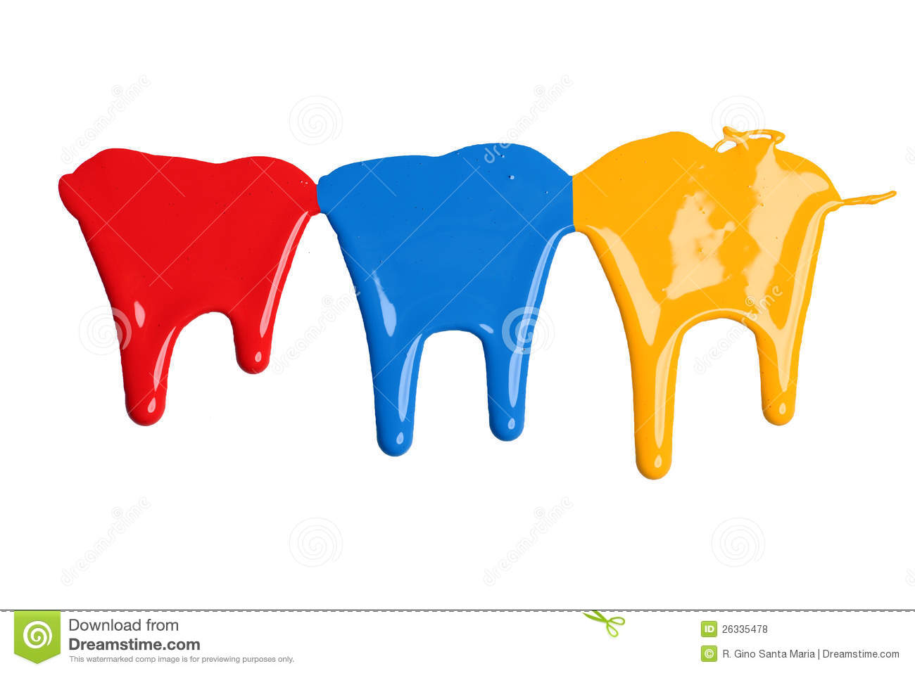 red blue and yellow paint dripping royalty free stock photos image 26335478. Black Bedroom Furniture Sets. Home Design Ideas