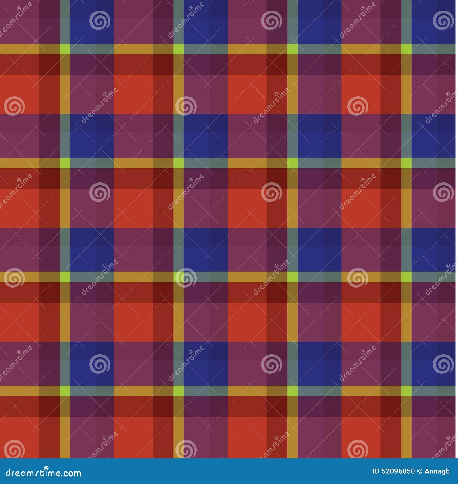 fcea34db4a Red Blue Yellow Tartan Scottish Plaid Background Pattern Vector ...