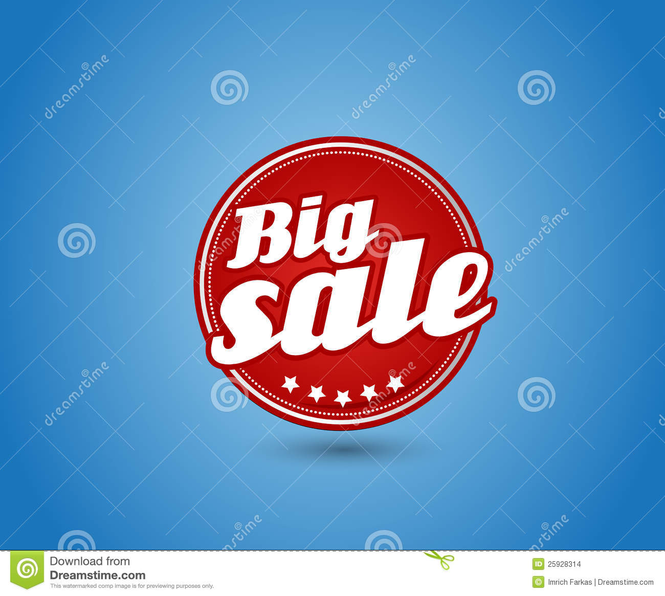 red board with big sale sign  stock vector