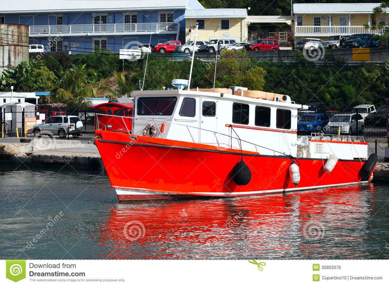 Red Boat Royalty Free Stock Image - Image: 35803376