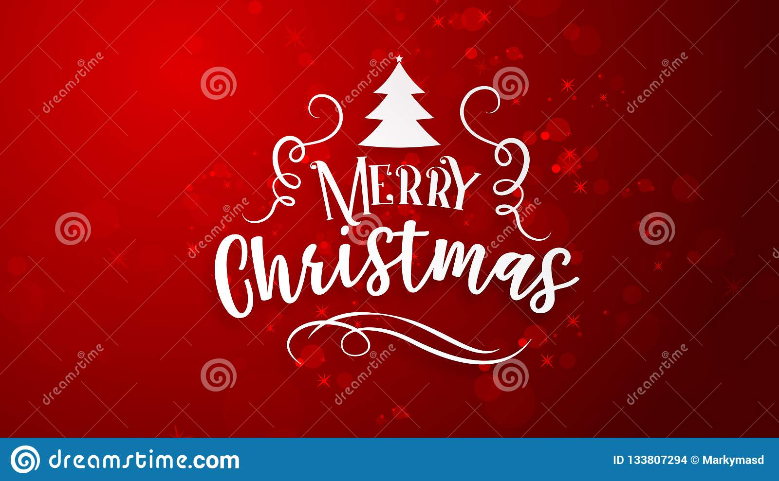 Red background with Merry Christmas greeting