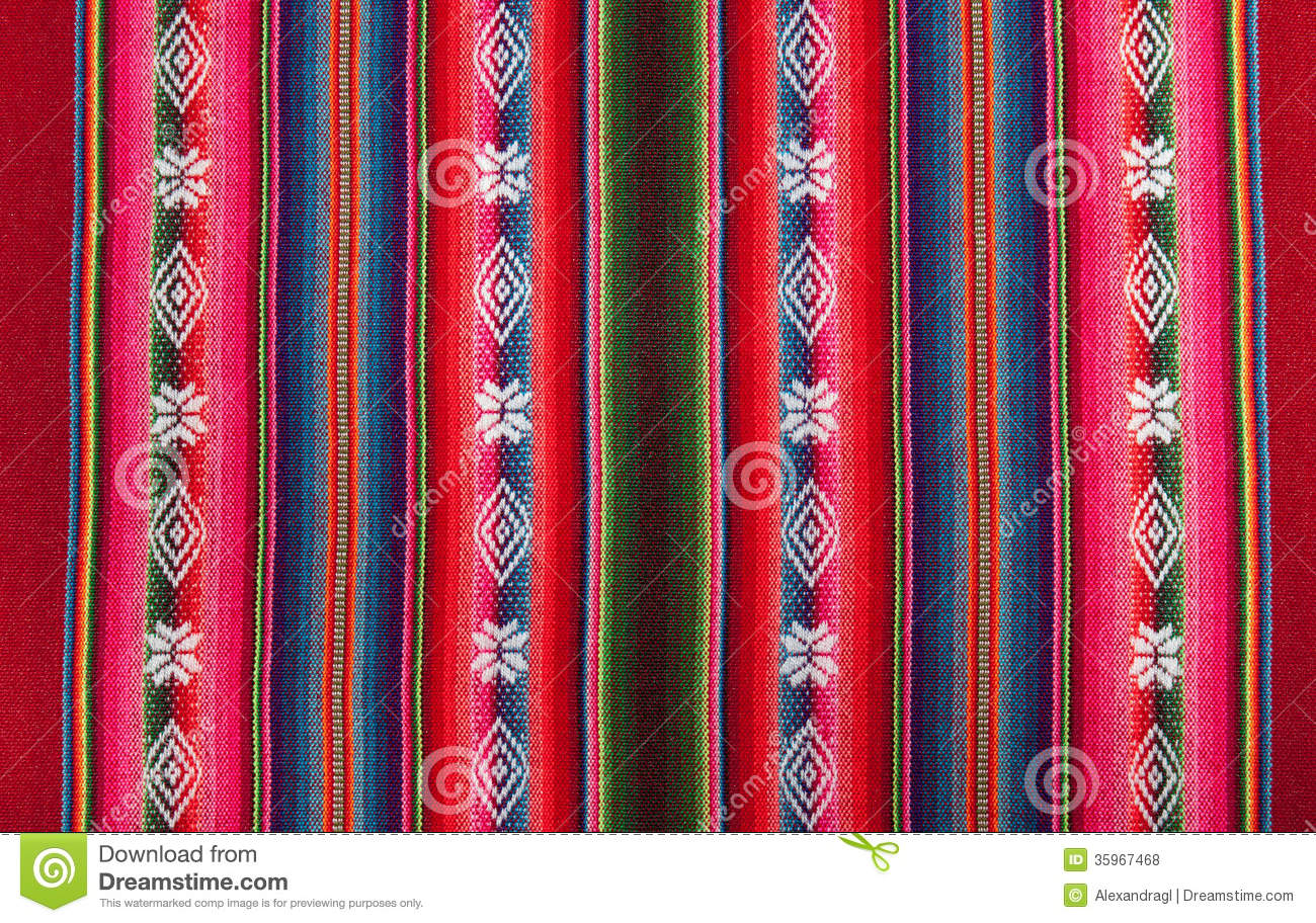 Red Bolivian Pattern Royalty Free Stock Photos Image
