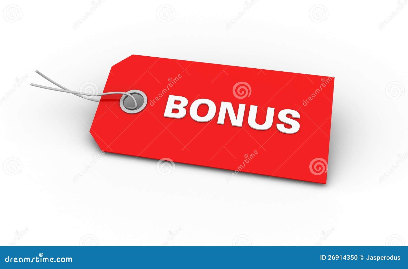 Red Bonus tag