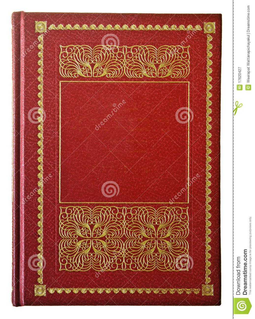 Red Book Cover Design ~ Red book royalty free stock photography image