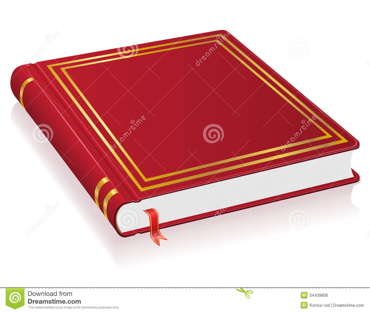 red book with bookmark vector illustration royalty free. Black Bedroom Furniture Sets. Home Design Ideas