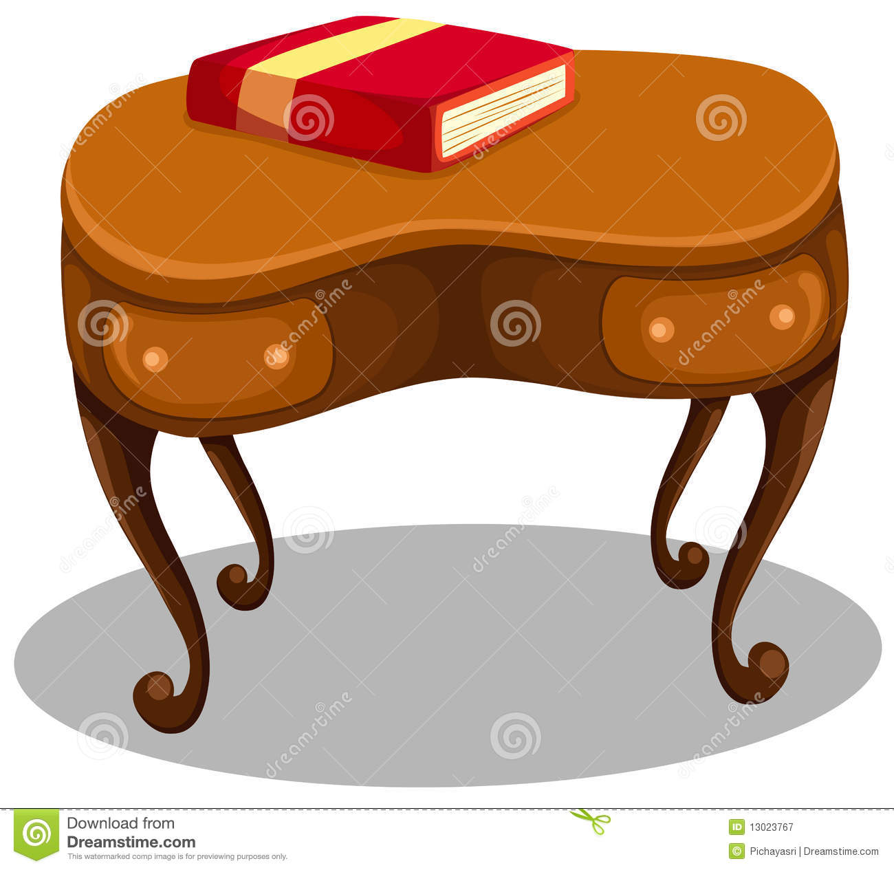 Red Book Desk Royalty Free Stock graphy Image
