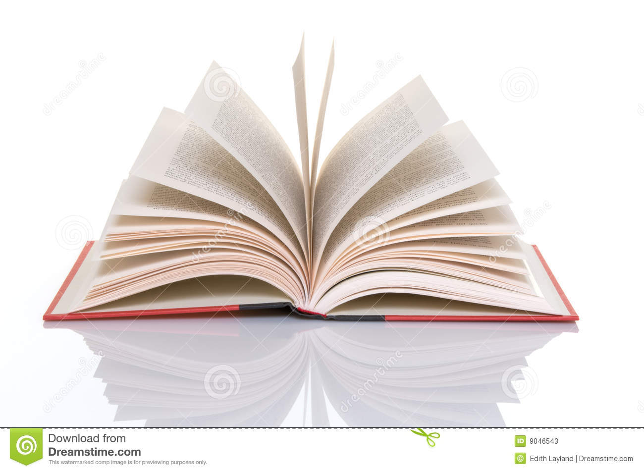 Red Book With Open Pages Stock Photos - Image: 9046543