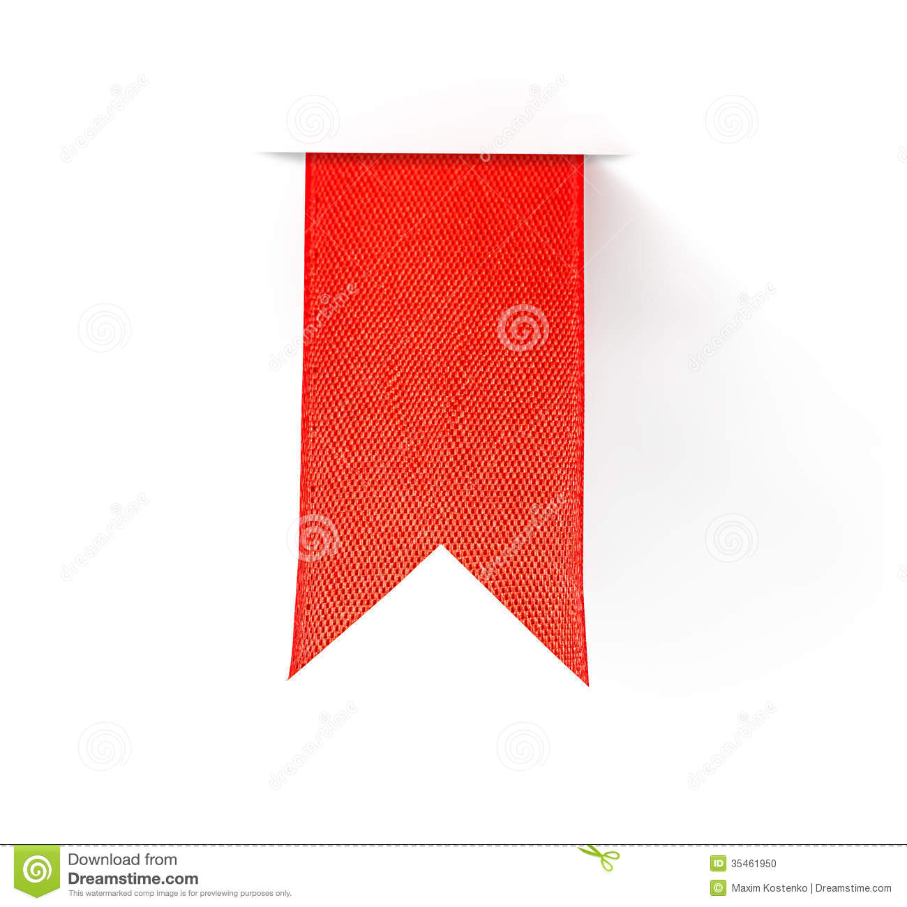 Red Bookmark Ribbon Stock Photo - Image: 35461950