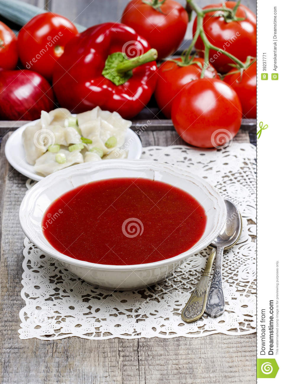 Red borsch with dumplings stock photo image 39237771 for Authentic polish cuisine