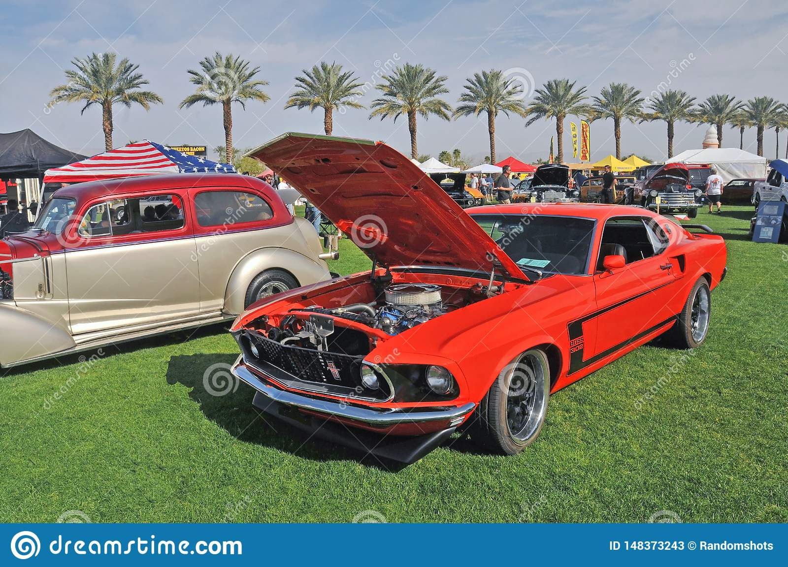 Red Boss 302 Ford Mustang