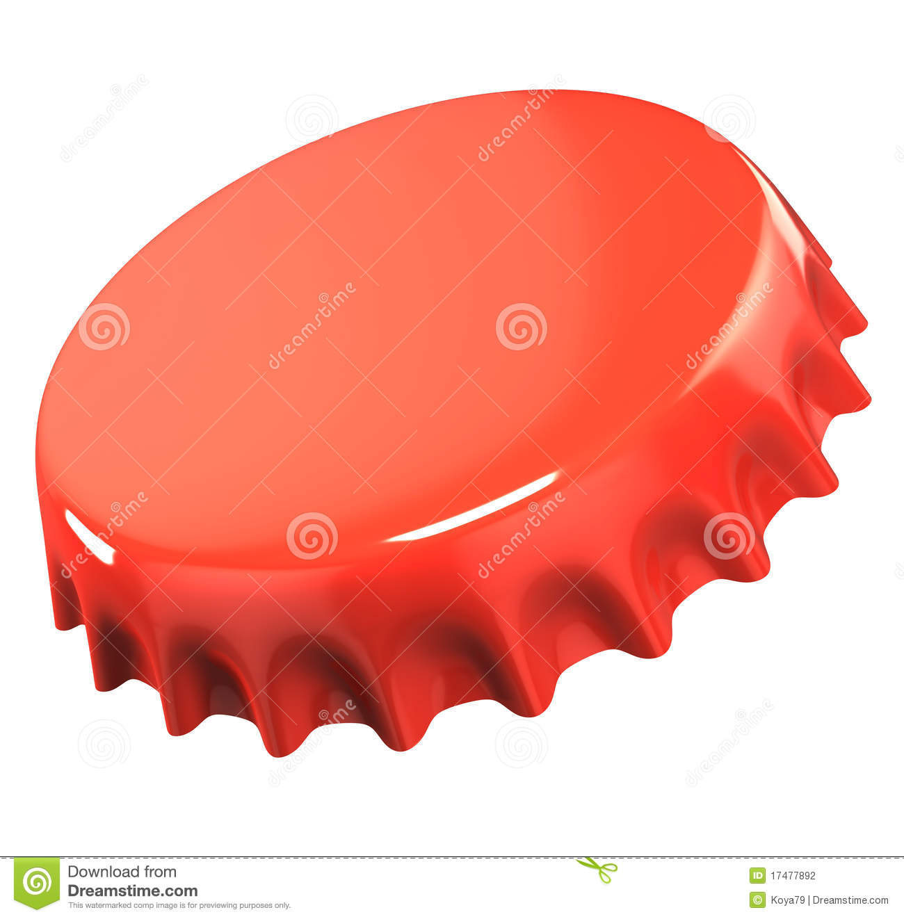 Red Bottle Cap Stock Photography - Image: 17477892