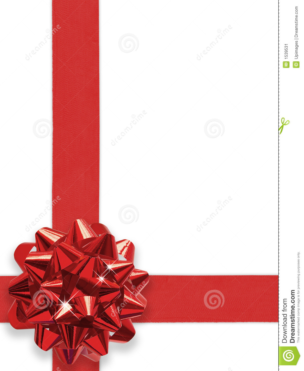 Red gift bows border with clipping path for easy background removing - Background Bow Clipping Path Red