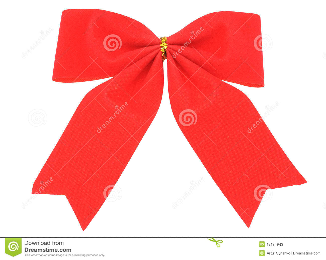 Christmas Decorations Red Bows : Red bow christmas decoration stock photos image