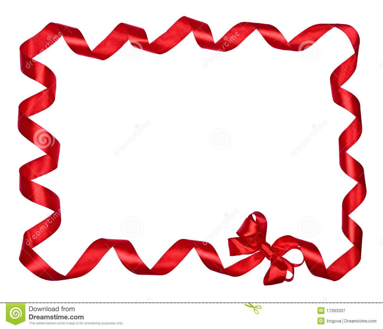 Red Bow Ribbons Border Royalty Free Stock Photography ...