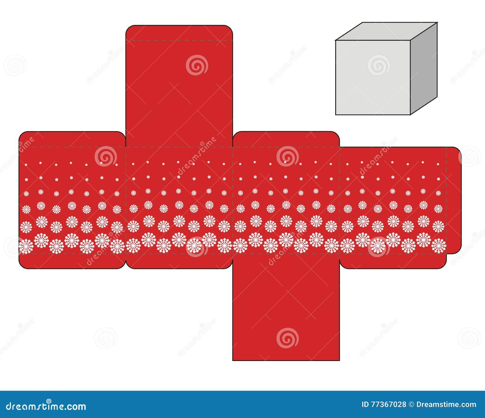 Red Box Template Stock Illustration Illustration Of Decoration