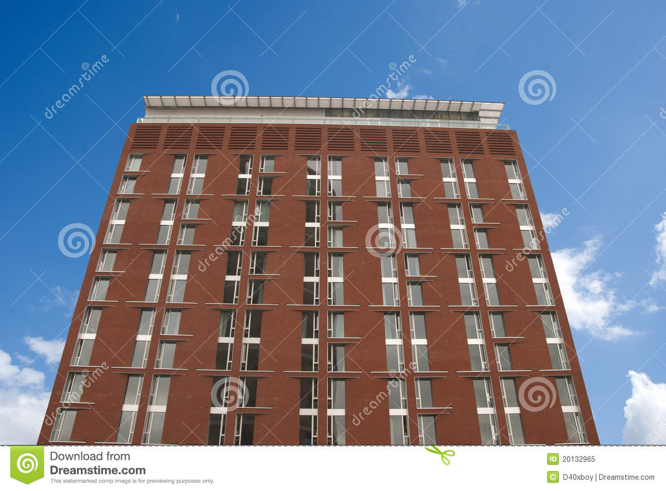 red brick apartment block royalty free stock photo image