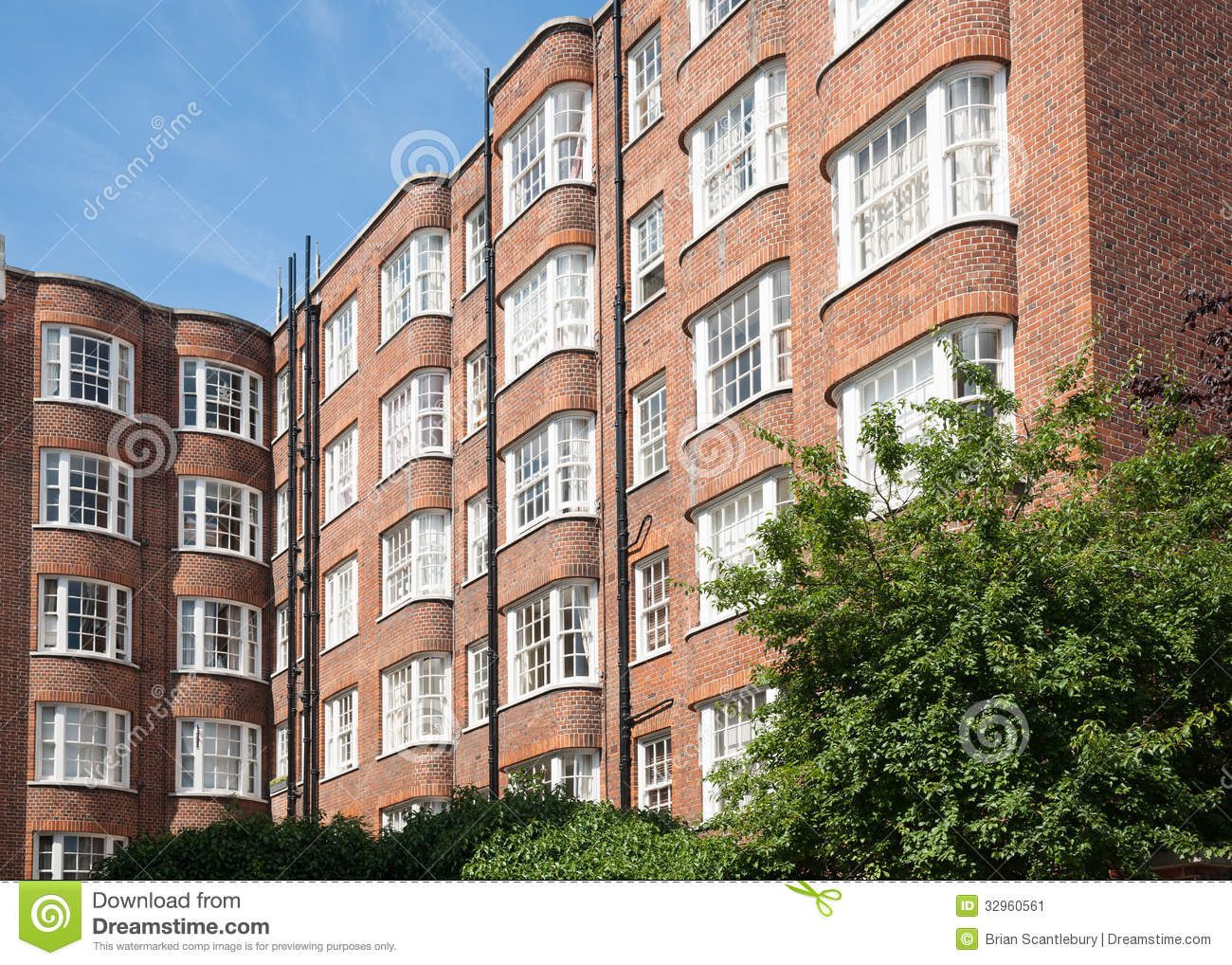 red brick apartments stock image image 32960561