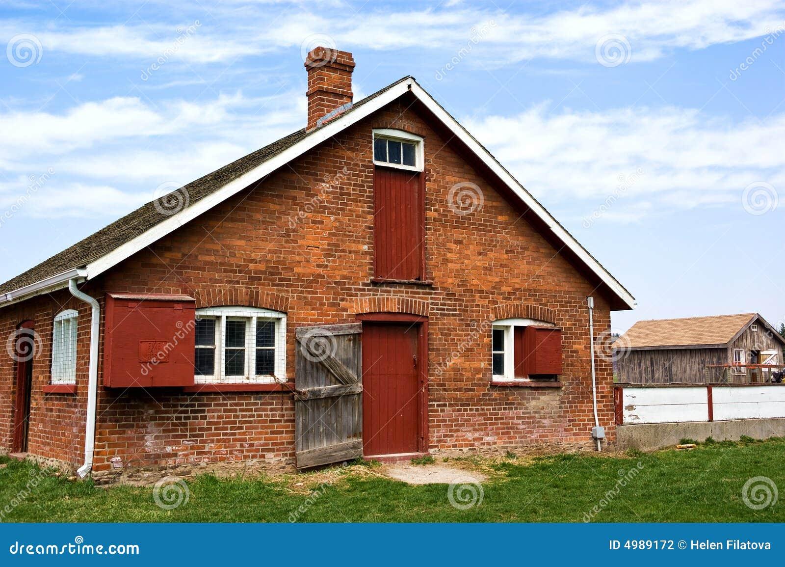 Red Brick Barn Stock Photography Image 4989172