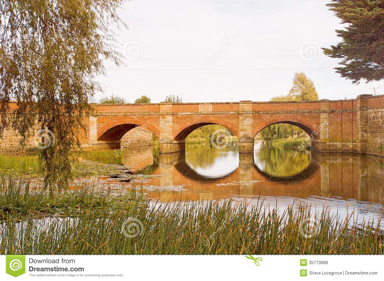 Campbell Town Australia  city photos gallery : Historic red brick bridge, Campbell Town, Tasmania, Australia.