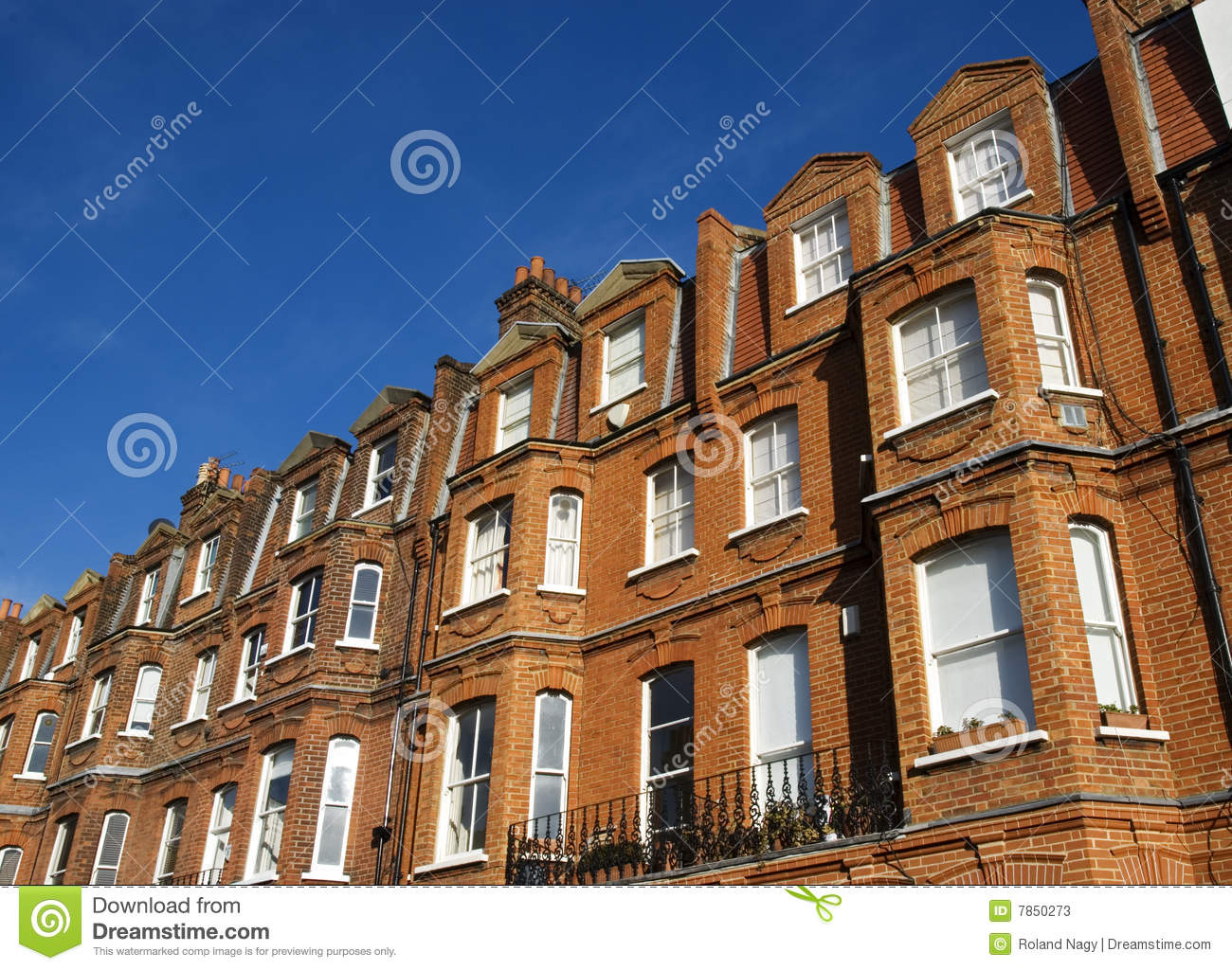 British red brick building stock image for Brick house construction